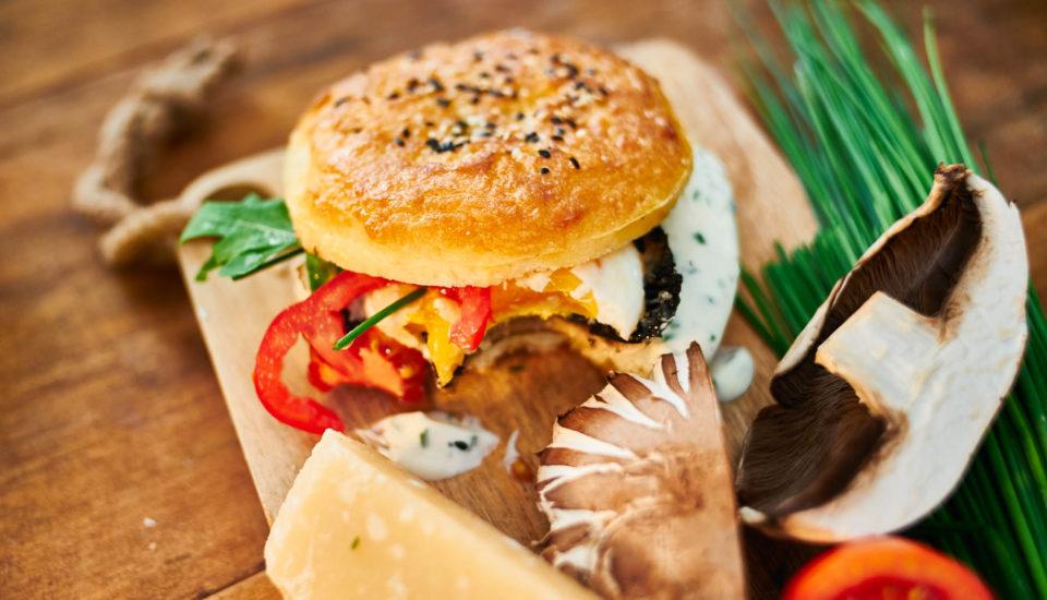 Hubový burger vbezlepkovej žemli
