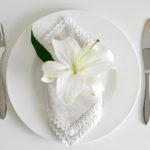 Ušite si obrúsky na slávnostný stôl