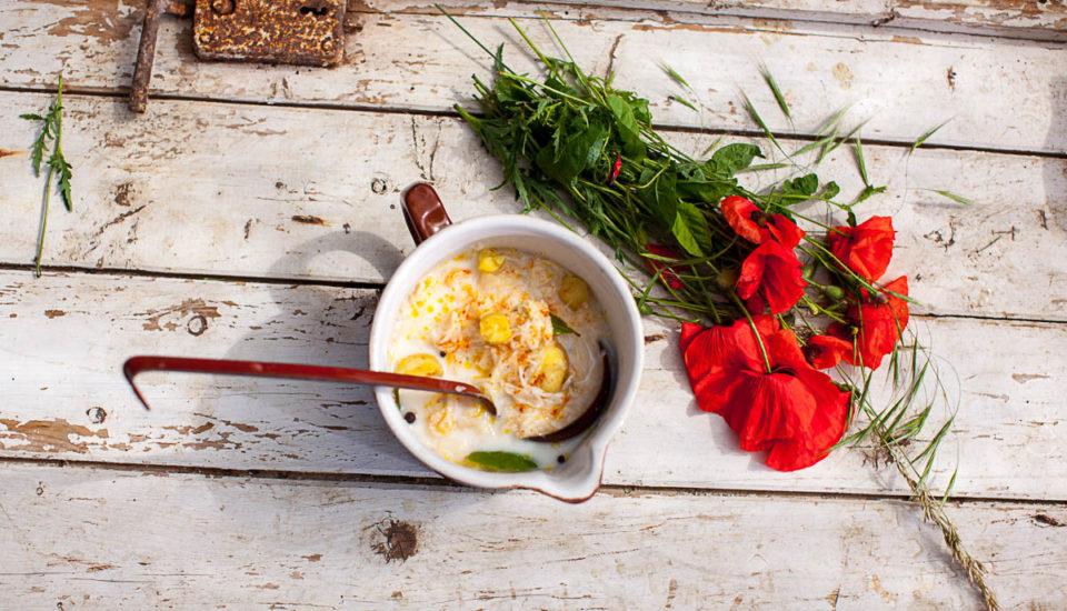 Kapustová polievka so zemiakmi amliečna hubová polievka