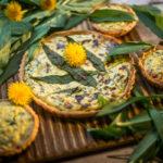 Jarný quiche so žihľavou amedvedím cesnakom