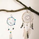 Vyrobte sebe ideťom indiánsky lapač snov
