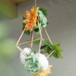 Moderná svadobná dekorácia: kvetinový diamant