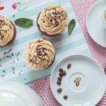 Kávové muffiny skaramelovým krémom