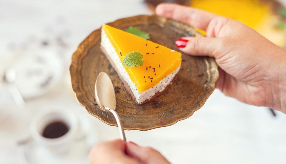 Svieži letný cheesecake smangom