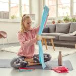 Odporové gumy: jednoduché cvičenie na pretiahnutie celého tela
