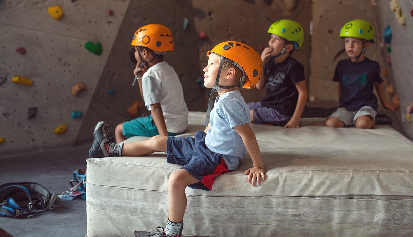 lezení a děti