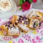 Kysnutý čučoriedkový koláč vzdravšej verzii ašesť druhov mrveničky