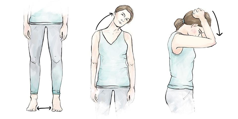 Cvik pro uvolnění krční páteře