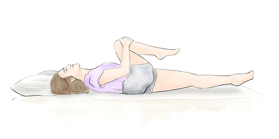 Prepnutie nohy (ilustračný obrázok)