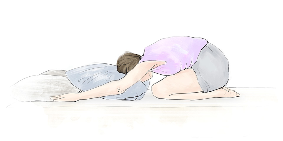 Klbko v kľaku (ilustračný obrázok)