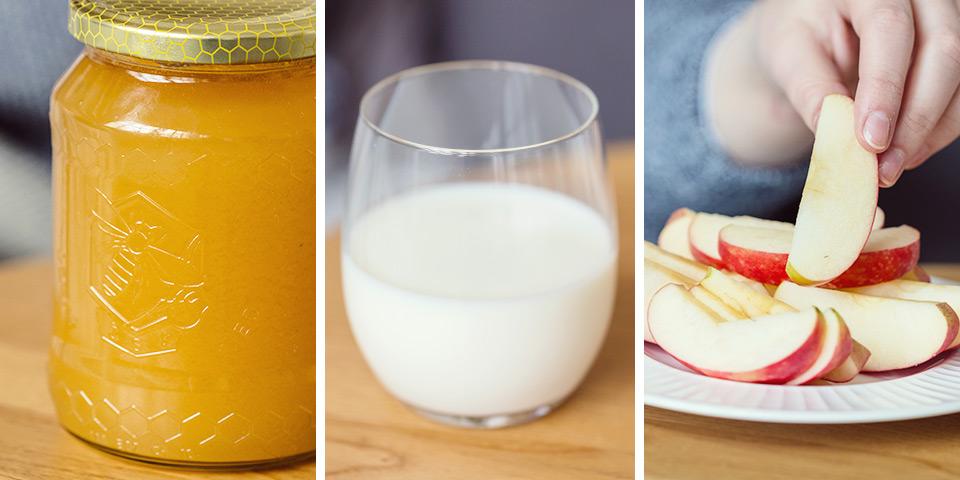 med,mlieko,jablko